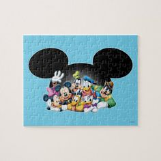 Mickey & Friends Group in Mickey Ears Jigsaw Puzzle Minnie Mouse Gifts, Mickey Mouse And Friends, Puzzle Games For Kids, Puzzles For Kids, Disney Puzzles, Friend Cartoon, Donald And Daisy Duck, Diy Gift Box, Disney Merchandise