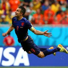 #Nederland #FIFA2014 #RobinVanPersie ❤️ Flying Dutchman 2014 ⚽️