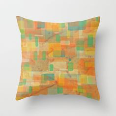 water passed through here Throw Pillow by Miguel Á. Núñez I. - $20.00