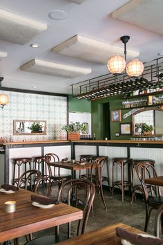 color scheme idea for cabin - Silver Lake's L & E Oyster Bar & Cafe / sfgirlbybay