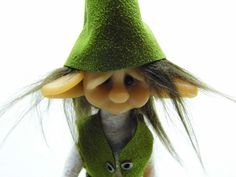 """OOAK Handmade Polymer Clay Woodland Elf Elfin Troll """"Diesel"""" Fantasy Art Doll. $42.00, via Etsy."""