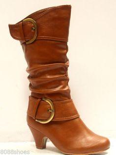 Girl's Low Heel Zipper boot | eBay