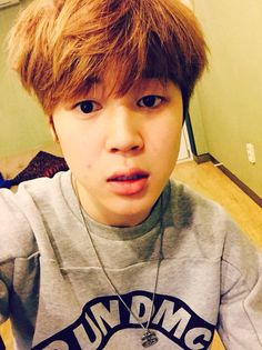 I like how he doesn't have any makeup on in this pic.  #jimin #naturaljimin #bts