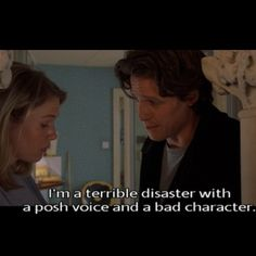 Bridget Jones's Diary // Renee Zellweger as Bridget Jones // Hugh Grant