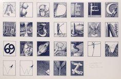 Secret Alphabet No. Alphabet, Illustration Art, Photo Wall, Gallery, Frame, Artist, Flowers, Dark Blue, Prints
