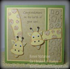 Giraffe baby card