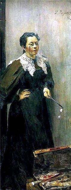 Fillipp Malyavin - Portrait of the Artist Anna Ostroumova-Lebedeva, 1896 (1869-1940)