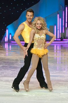 Women look slightly less awkward in many ice dancing costumes.