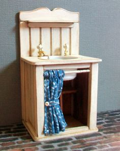 Miniature Sink  1:12 scale by MarquisMiniatures on Etsy