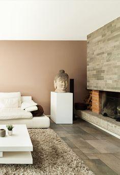 Schilderinspiratie - bruine accentmuur | Ga naar www.Klusopmaat.nl en plaats gratis je schilderklus!