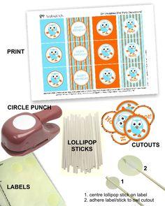 Giggle & Hoot free printable cupcake toppers