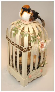 Perfect Peek Day 1: Aviary Amazement - My Time, My Creations, My Stampendence. Paper birdcage template for sale