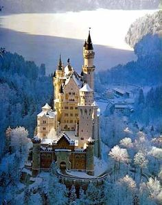 Neuschwanstein Castle, Germany, this is where Santa really lives