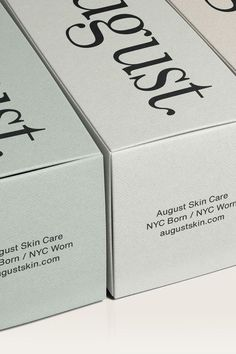 August Skin Care August Skincare are a New York based Skincare brand that presented themselves as a proven, hassle-free and inclusive skincare routine that you can have full confidence in. A routine that gives you the headspace and sanity to focus on what really matters in life.#branding ...#brandidentitydesign #packagingdesign #cosmeticbranding #designinspiration #brandinginspiration #packaginginspiration #femininebrand #brightcolour #loudcolour #artdirection #cosmeticdesign #cosmetic Craft Packaging, Candle Packaging, Product Packaging, Fashion Packaging, Beauty Packaging, Brand Identity Design, Branding Design, Design Food, Label Design