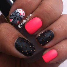 I always like these cool nail designs but..I suck at even just painting my own nails and it takes too long...ain't nobody got time for that!