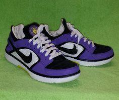 Nike Huarache Dance Low Casual Shoe Purple/Black Women's Size 7 Excellent #Nike #Dance