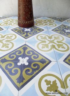 Sadus Tiles hand made cement tiles on order only from Bali
