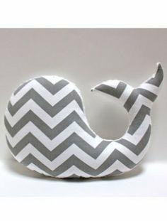 Items similar to Modern baby Chevron WHALE pillow - nautical nursery decor grey gray white plushie - shower gift for new mom on Etsy Nautical Nursery Decor, Nautical Baby, Baby Decor, Baby Chevron, Chevron Pillow, Chevron Fabric, Nursery Modern, Nautical Theme, Whale Pillow