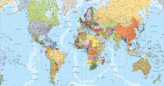 Find and enjoy our World Map English Wall Maps, Frames On Wall, Class Activities, Our World, Projects To Try, Old Things, Diagram, Poster, Spanish Classroom