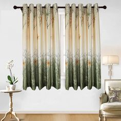 Green Leaf Tree Curtains Living Room - Anady Top 2 Panel Green/Orange Maple Leaf Short Curtains Drapes for Bedroom Grommet 63 inch Long -- Learn more by visiting the image link. (This is an affiliate link) Short Window Curtains, Tree Curtains, Outdoor Curtains, Kids Curtains, Floral Curtains, Rustic Curtains, Curtains Living, Modern Curtains, Curtains For Sale