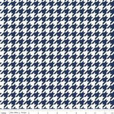 Navy Houndstooth Fabric by Riley Blake