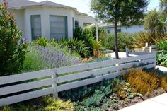 Front white horizontal fence