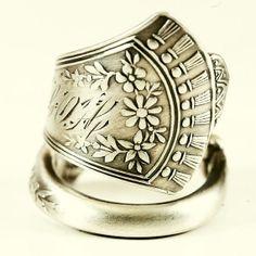 25 OFF Sterling Vintage Victorian Spoon Ring in 1885 by Spoonier, $35.00