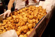 Italian food abroad #zeppole #Napoli #StreetFood #milan #expo2015 #worldsfair