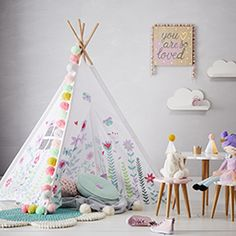 There are hours of fun to be had in this fantastic Teepee tent from Adairs Kids. Standing at tall, there's plenty of room to move around and play inside and the stylish colourful design means you'll love having it in your home. Modern Bed Sheets, Cheap Bed Sheets, Neutral Bed Linen, Black Bed Linen, Queen Bedding Sets, Luxury Bedding Sets, Comforter Sets, Adairs Kids, Teepee Kids