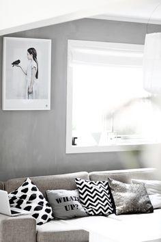 Grey Walls In Living Room