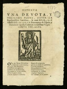Ostenta vna devota y obligada pluma, dever ... Barcelona, su total defensa, en el assedio deste año 1706, à la protomartyr de España y patro...