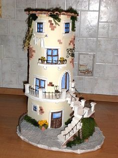 tegola casetta Clay Projects, Clay Crafts, Diy And Crafts, Clay Houses, Ceramic Houses, Popsicle Stick Houses, Birdhouse Craft, Wrapped Wine Bottles, Fairy Garden Houses