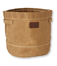 #LLBean: Waxed Canvas Storage Tote in Olive