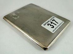 317) Vintage engine turned silver plated cigarette case with 1960's Bath Labour Party presentation inscription Est. £10-£20