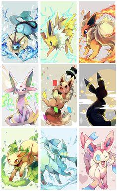 Anime eevee pic (right now I'm shipping jolteonXeevee) O. Gif Pokemon, Mega Pokemon, Pokemon Comics, Pokemon Memes, Pokemon Fan Art, Animal Drawings, Cute Drawings, Pokemon Eevee Evolutions, Alolan Vulpix