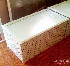 Toy Boxes from Our Old Kitchen Cabinets - Thehomesteadsurvival