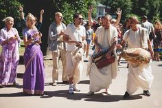 Harinama in Gorky Central Park, Moscow, Russia (Album 59 photos)