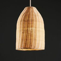 Rattan Basket Ceiling Pendant Light Shade In A Natural Wicker Finish - Brown Modern Chandelier, Modern Lighting, Ceiling Light Shades, Ceiling Lights, Wicker Pendant Light, Electrical Fittings, Wooden Drawers, Rattan Basket, Living Room Lighting