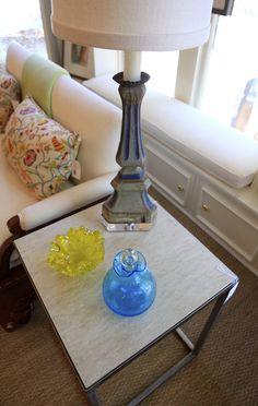 I believe that's Raoul textiles  Blue print Dallas  gorgeous glass