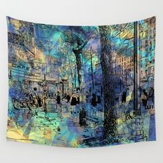 Buy CITY by sametsevincer as a high quality Wall Tapestry. Worldwide shipping available at Society6.com. Just one of millions of products available.