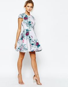 416f919c3e6279 Image 4 of Ted Baker Kieley Skater Dress in Floral Print Ted Baker Dress  Floral