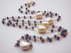 Collana lunga montata in stile  rosario con di LisaCreazioni