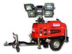 VT-1  Mobiele lichtmastwagen 9m 4x1000W           - Aggregaat 8 KVA      - Optioneel lichtsensor      - Verlichting 4x1000Watt     - Inclusief vonkenvanger      - Optioneel Externe aansluiting