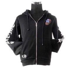 fce252c5fefd America Flag Style Coats Sequin Tongue Black Chrome Hearts Hoodies