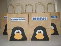 Club Penguin Party - Favor Bags