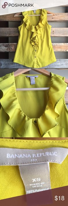 Banana Republic| NEW Mustard Blouse NEW| no stains/wear  100% Polyester  Never been worn outside my home, bought for work.  Accepting Offers! ✌🏻Bundle & Save on all my items! Banana Republic Tops Tank Tops