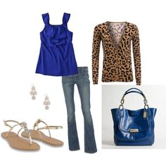 Love the blue with the animal print!