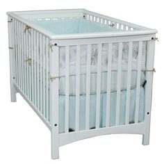 This versatile stationary white crib quickly converts to a toddler bed when you just remove one side. It is made of solid wood, so it will continue to hold up as your little one grows. Its matte white finish matches well with the decor of your nursery.