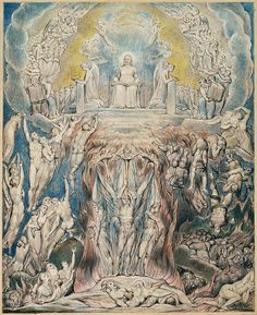 "William Blake - A Vision of the Last Judgement (for Blair's ""The Grave""), 1808."