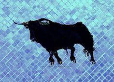 'Toro Türkis Mosaic 1' von April Turner bei artflakes.com als Poster oder Kunstdruck $27.72